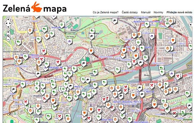 Zelena Mapa Prahy Je Uz I Na Internetu Rady Kolo Cz