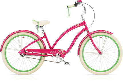 Electra Cherie 7i hot pink ladies'