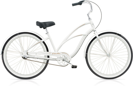 Electra Coaster 3i (Alloy) pearl white ladies'