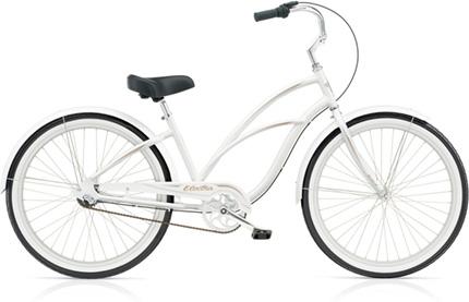 Electra Coaster 3i (Alloy) pearl white ladies'