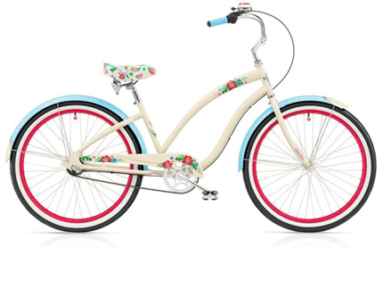 Electra Hula 3i ivory/blue ladies'