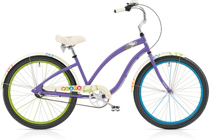 "Electra Peace 3i 24"" purple ladies'"