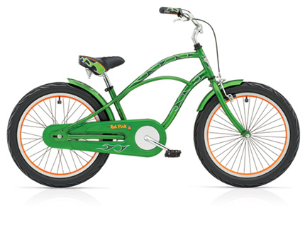 "Electra Rat Fink Kids' 3i 20"" metal flake green boys'"
