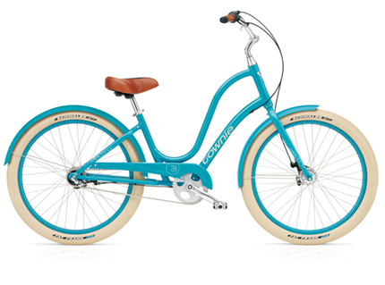 Electra Townie Balloon 3i turquoise ladies'