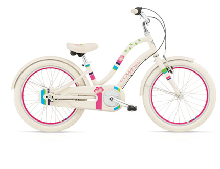 "Electra Townie Kids' 3i 20"" cream blossom girls'"