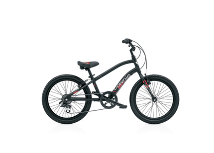 "Electra Townie Kids' 7D 20"" black stencil boys'"