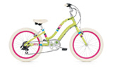 "Electra Townie Kids' 7D 20"" green blossom girls'"