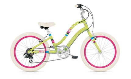 "Electra Townie Kids' 7D 20"" green blossom girls'"