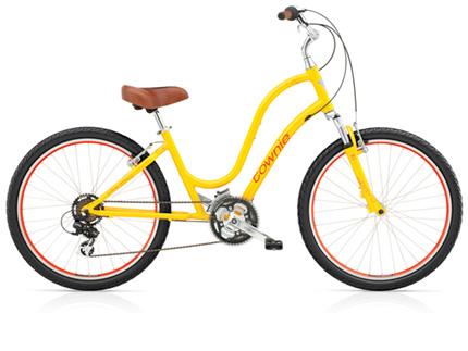 Electra Townie Original 21D yellow ladies'
