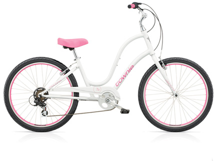 "Electra Townie Original 7D 24"" white ladies'"