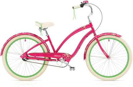 Electra Cherie 3i hot pink ladies'