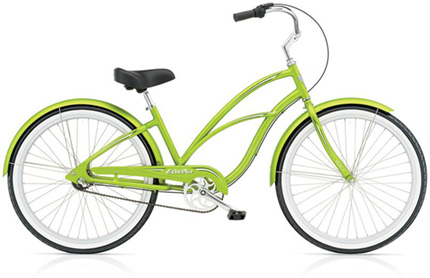 Electra Coaster 3i electric green ladies