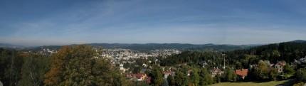 pohled z Petřína na Jablonec nad Nisou