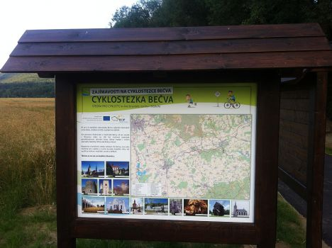 Cyklostezka Bečva: nový úsek Dříň - Týn n. Bečvou